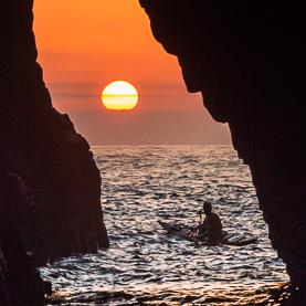 Sortida del Sol a la cova d'en Gispert