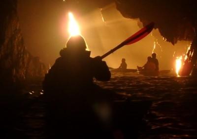 Salida del sol en la Cueva de Gispert