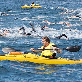 Soporte para carreras de natación a mar abierto