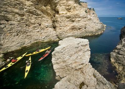 Excursió en caiac de mar per la costa del Montgrí