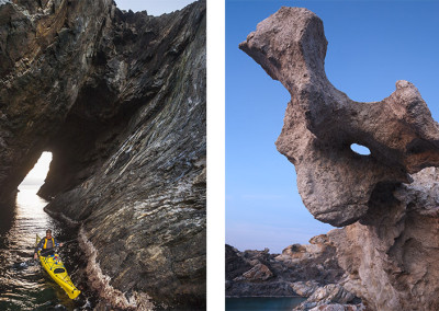 Kayak en la Cova de l'Infern