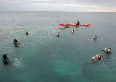 Snorkel amb caiac de suport