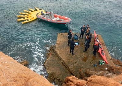 Preparant-nos per l'snorkel a les Formigues